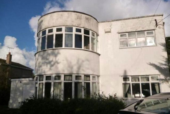 In need of renovation: 1930s three-bedroom art deco property in Towyn, Conwy, North Wales
