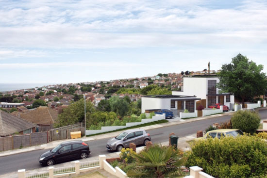 Five-bedroom new-build art deco-style house in Saltdean, East Sussex