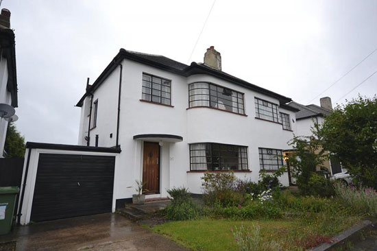 1930s art deco property in Gidea Park, Romford, Essex