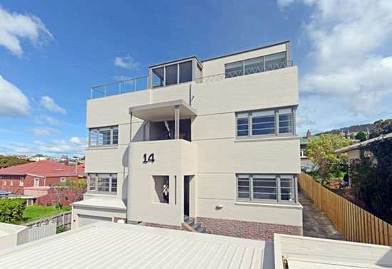 One-bedroom art deco apartment in West Hobart, Tasmania, Australia