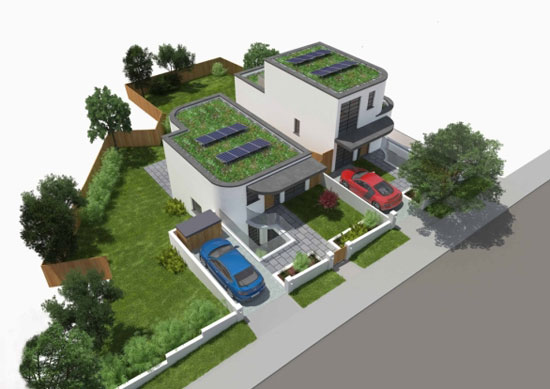 Five-bedroom new-build art deco-style house in Saltdean, East Sussex