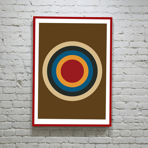 As seen on Mad Men: Deltanova retro art prints at Etsy