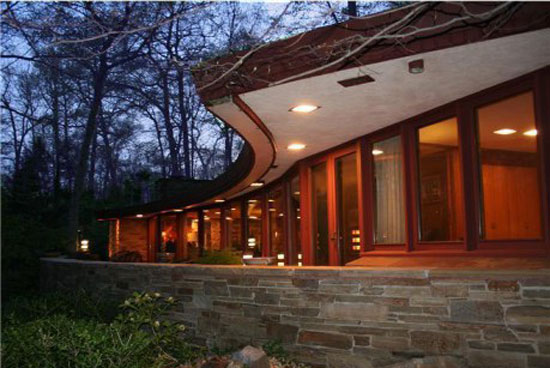 1950s Frank Lloyd Wright-designed Dudley Spencer House in Wilmington, Delaware, USA