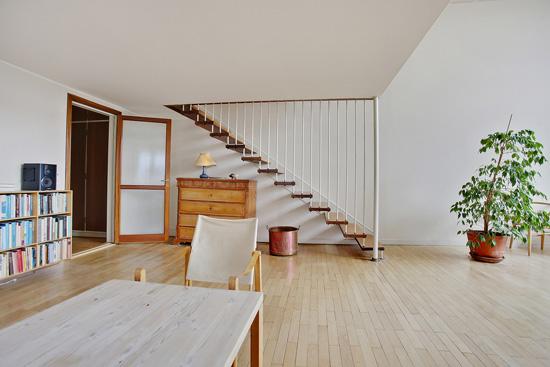 Arne Jacobsen modernism: 1950s townhouse in the Bellevue complex, Klampenborg, near Copenhagen, Denmark