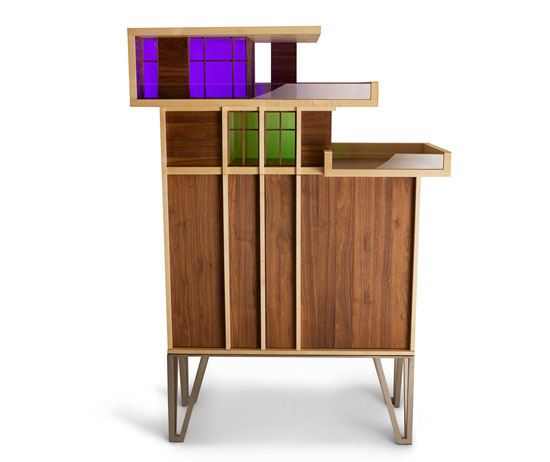 Penthouse Cabinet by Piece UK - inspired by midcentury architecture