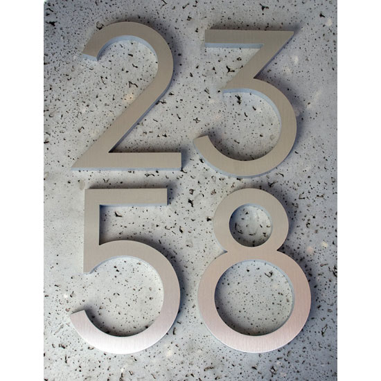 Modernist house numbers by Modern Dwell