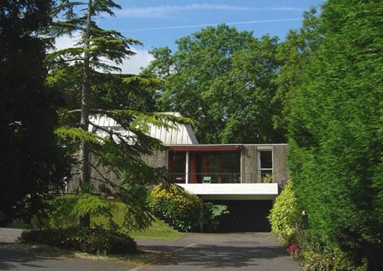 On the market: 1960s Thomas Glyn Jones and John R Evans-designed grade II-listed modernist property in Dinas Powys, South Wales