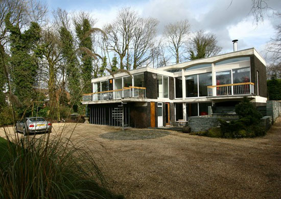 1950s grade II-listed Domus midcentury modern property in Reedley, near Burnley, Lancashire
