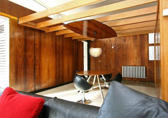 1950s grade II-listed Domus midcentury modern property in Reedley, near Burnley, Lancashire