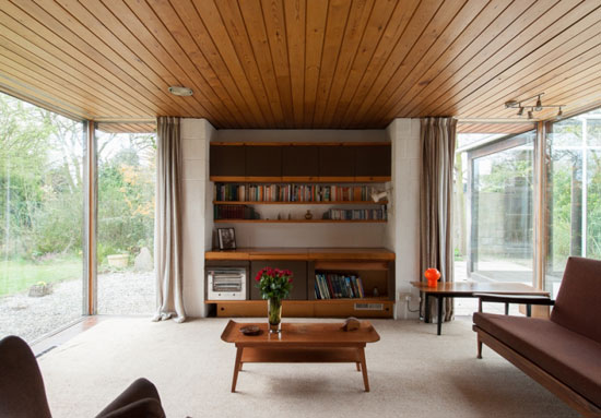 Price drop: Peter Aldington-designed 1960s grade II-listed modernist property in Bessacarr, near Doncaster, South Yorkshire