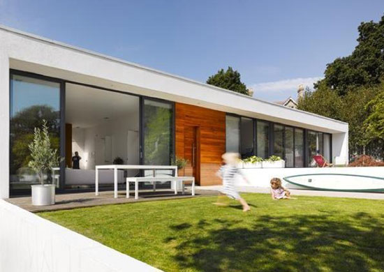 On the market: Three-bedroom single-storey modernist property in Poole, Dorset