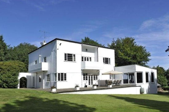 Edgmont 1930s art deco property in Holmbury St. Mary, near Dorking, Surrey