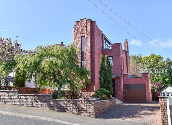 In need of renovation: 1930s art deco property in Bangor, County Down, Northern Ireland