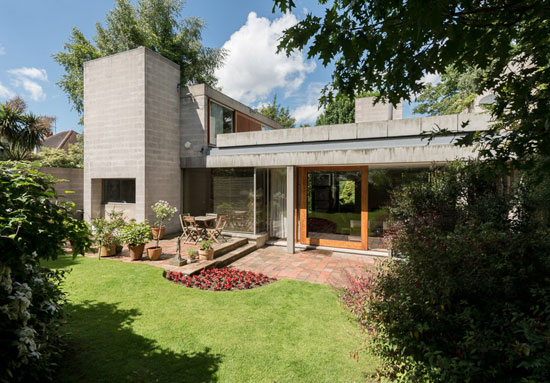 On the market: 1960s grade II-listed Sir Philip Dowson-designed modernist property in London SW20