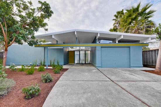 1960s midcentury modern Eichler property in San Jose, California, USA