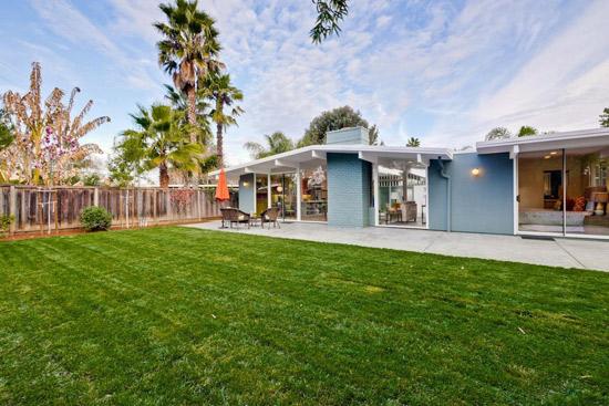 1960s midcentury modern Eichler property in San Jose, California, USA
