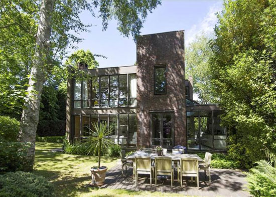 On the market: 1970s Royston Summers-designed modernist lakeside house in Esher, Surrey
