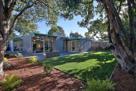 1950s midcentury modern Eichler property in Palo Alto, California, USA