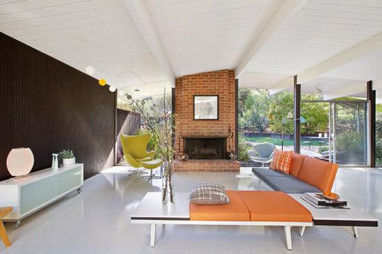 1960s midcentury modern Eichler property in San Rafael, California, USA