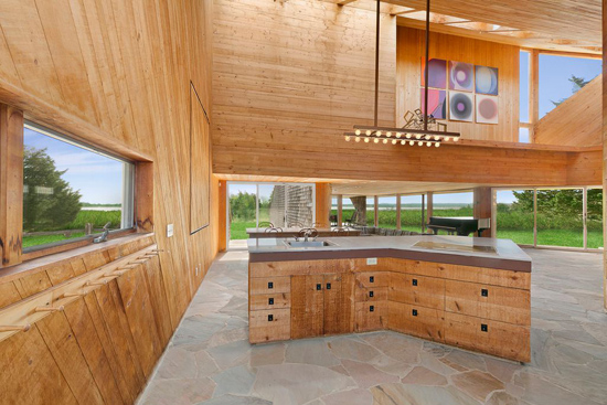 1980s Norman Jaffe modernist property in East Hampton, New York, USA