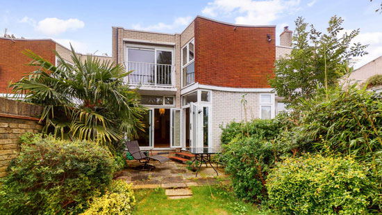 1960s modern townhouse on Eel Pie Island, Twickenham, south-west London