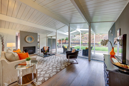 1960s midcentury Eichler property in San Rafael. California, USA