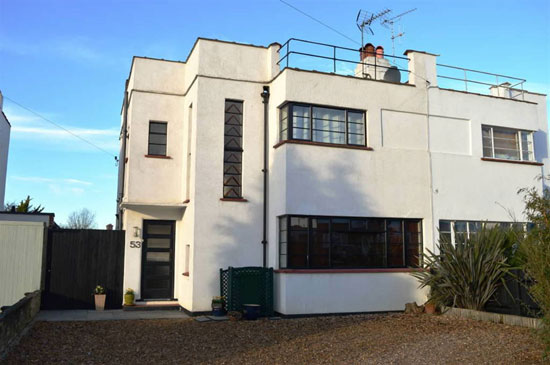 1930s art deco semi-detached property in Epsom, Surrey