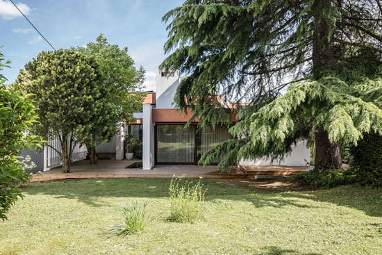 1970s modernist property in Bourg-la-Reine, near Paris, France