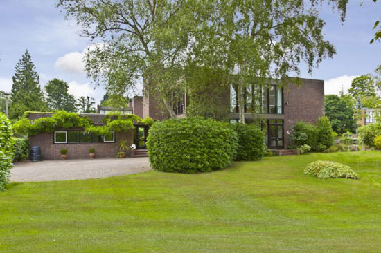 On the market: 1970s Royston Summers-designed five bedroom modernist house in Esher, Surrey