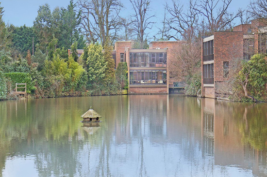 1970s modernism: Royston Summers-designed lakeside property in Esher, Surrey