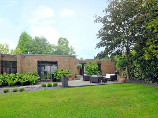 On the market: 1970s Royston Summers-designed four bedroom modernist property in Esher, Surrey