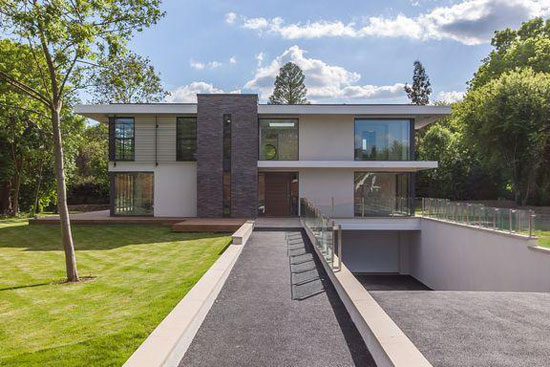 On the market: Five-bedroom contemporary modernist property in Esher, Surrey