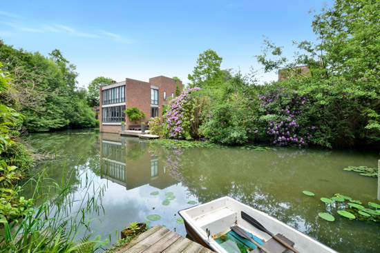 1970s modernism: Royston Summers lakeside property in Esher, Surrey