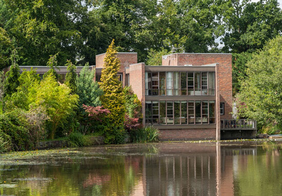 1970s Royston Summers-designed modernist property on Lakeside Drive, Esher, Surrey
