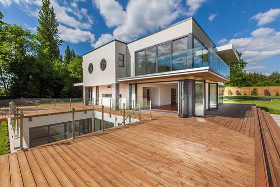Five-bedroom contemporary modernist property in Esher, Surrey