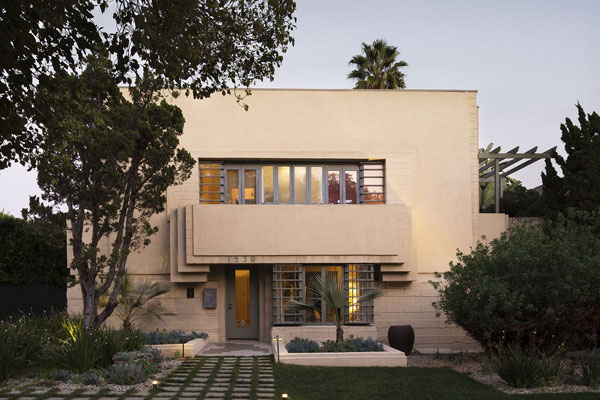Lloyd Wright-designed Henry O. Bollman Residence in Los Angeles, California, USA