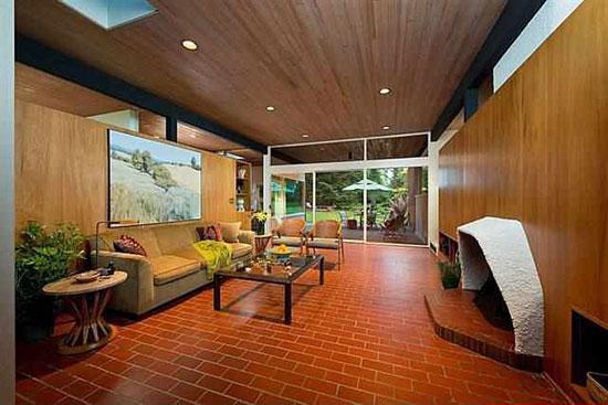 1950s Bruce Walker midcentury modern house in Spokane, Washington state, USA