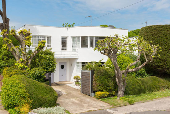 Back on the market: 1930s Oliver Hill-designed art deco property in Frinton-on-Sea, Essex
