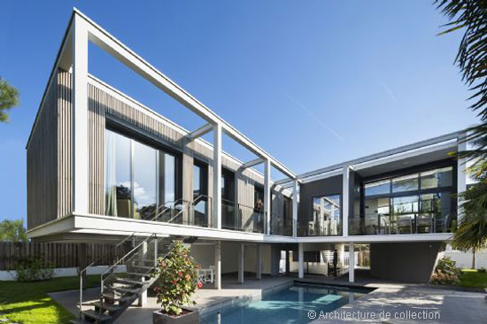 On the market: Frank Salama-designed contemporary modernist property in La Varenne Saint-Hilaire, near Paris, France