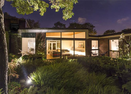 On the market: 1960s Austin Vernon & Partners-designed midcentury property on the Dulwich Estate, London SE21