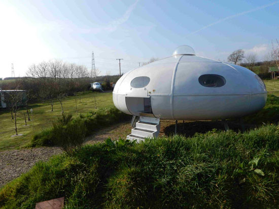 Airbnb find: Futuro-style UFO holiday let in Redberth, Pembrokeshire