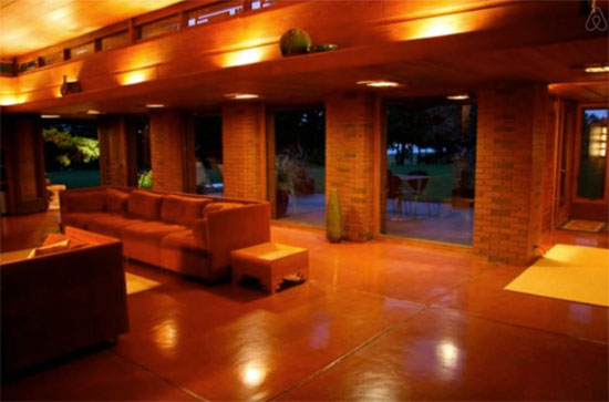 Airbnb find: Frank Lloyd Wright-designed Schwartz House in Two Rivers, Wisconsin, USA