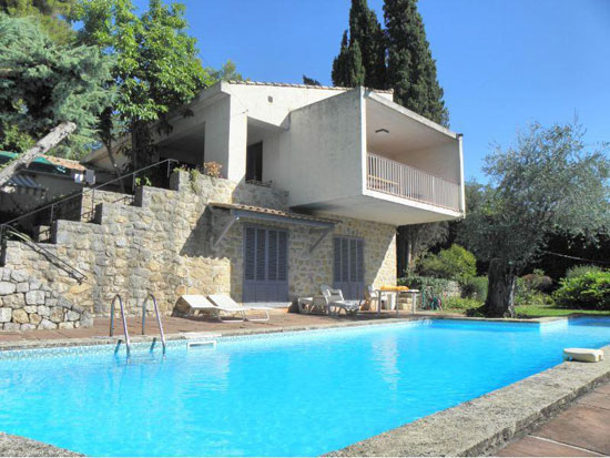 7. 1960s modernist villa in Grasse, Cote d'Azur, south east France