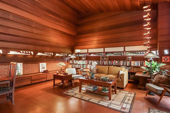 Frank Lloyd Wright-designed Haddock House in Ann Arbor, Michigan, USA