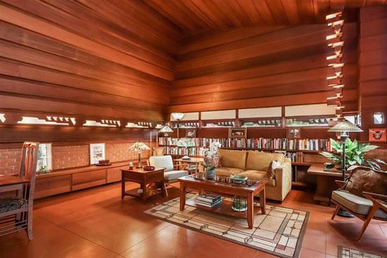 Frank Lloyd Wright-designed Haddock House in Ann Arbor, Michigan, USA