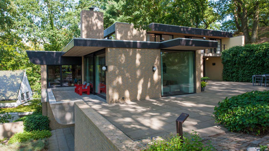 1970s Huub Debije modern house in Nuth, Holland