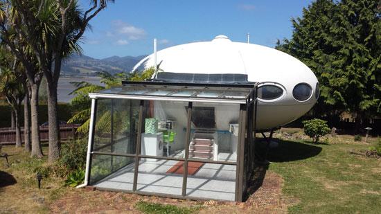 On the market: 1960s Matti Suurinen-designed Futuro House in Warrington, New Zealand
