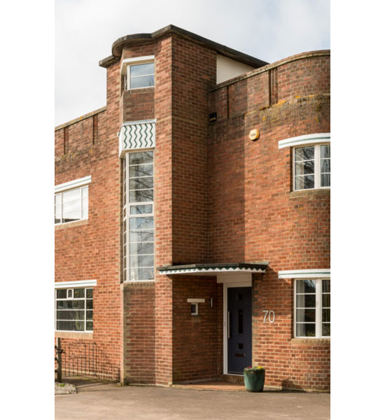1930s Norman Webster art deco house in Long Sutton, Lincolnshire