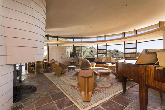 Frank Lloyd Wright-designed Lykes Home in Phoenix, Arizona, USA