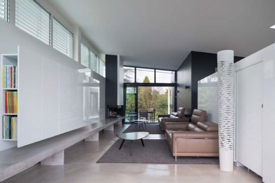Frank Salama-designed contemporary modernist property in La Varenne Saint-Hilaire, near Paris, France